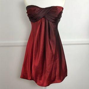 🦃 3 for $25 Xscape burgundy red ombré dress